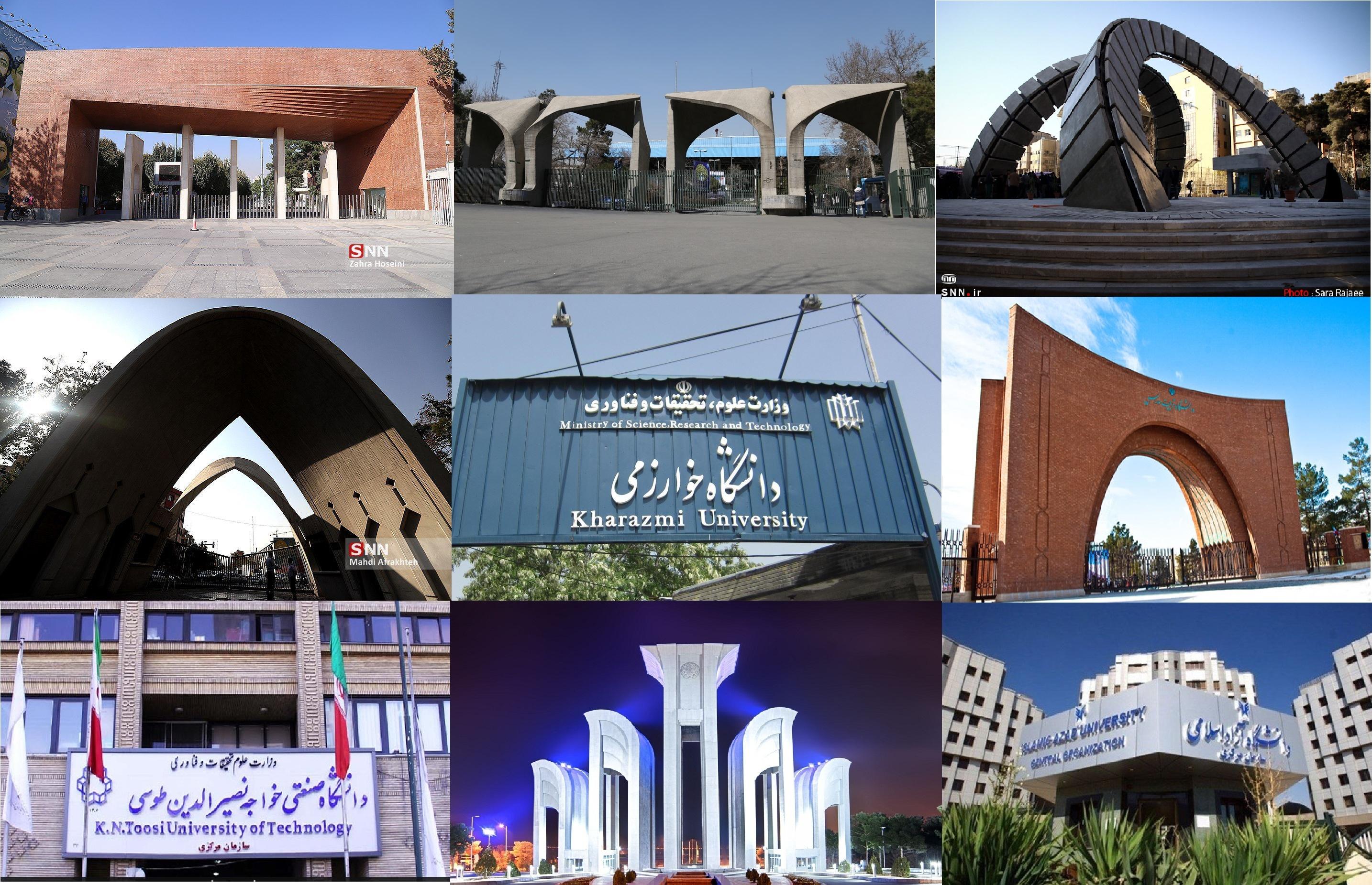 لیست دانشگاه ها و مراکز آموزش عالی تهران