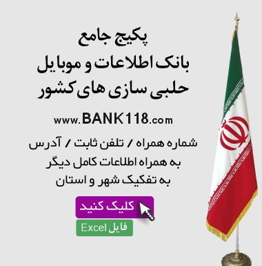 بانک اطلاعات حلبی سازی های کشور