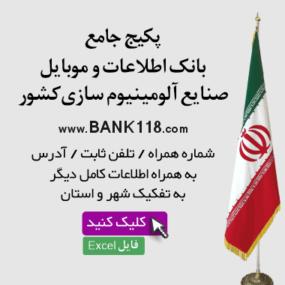 بانک اطلاعات صنایع آلمینیوم سازی کشور