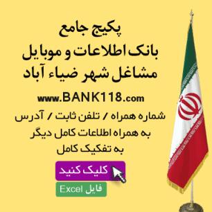 اطلاعات و لیست مشاغل شهر ضیاء آباد