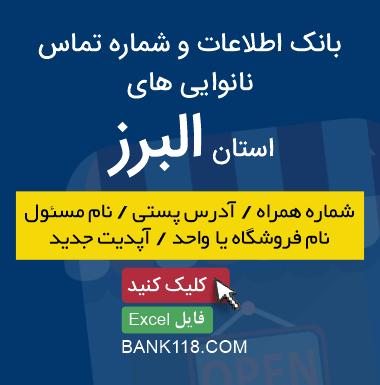 اطلاعات و لیست نانوایی های استان البرز