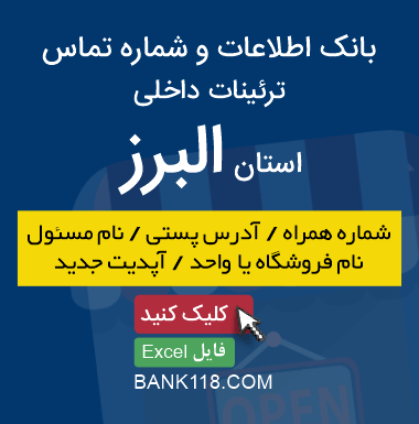 اطلاعات و لیست مشاغل ترئینات داخلی استان البرز