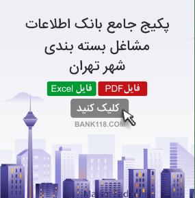 اطلاعات و لیست مشاغل بسته بندی تهران